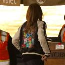 Cindy Crawford in Jeans with Rande Gerber at Nobu in Malibu
