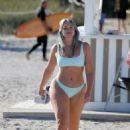 Iskra Lawrence in Pastel Bikini on the beach in Miami - 454 x 654