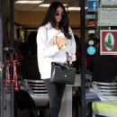 Madison Beer in Tight at Hands Nail Spa in LA