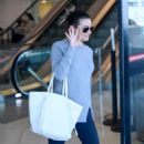 Lea Michele – Arrives at LAX Airport in Los Angeles - 454 x 681