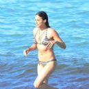 Michelle Rodriguez in Bikini on the beach in St. Tropez - 454 x 712