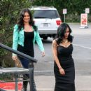 Nicole 'Snooki' Polizzi stop by the 'Extra' set January 26,2015 - 446 x 600