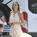 Alessandra Ambrosio – Shopping candids for balloons in Los Angeles
