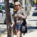 Brittany Snow is spotted leaving a hair salon in Los Angeles, CA