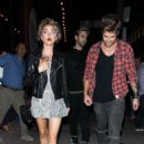 Sarah Hyland – Leaves Lucy Hale's birthday at Viva Hollywood in LA