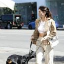 Kendall Jenner – With her doberman out in West Hollywood