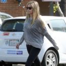 Denise Richards in Tights Out Shopping in Malibu