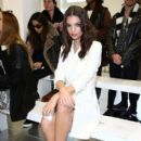Emily Ratajkowski attends the Antonio Berardi show during London Fashion Week Fall/Winter 2015/16 at 10 Bloomsbury Way on February 23, 2015 in London, England