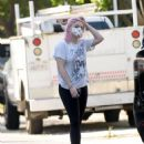 Ariel Winter and Luke Benward – House Hunting candids in Los Angeles
