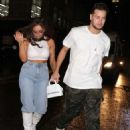 Jesy Nelson and Chris Hughes – Out for their anniversary at the Moonshine Saloon in London