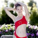 Jaime King in Red Bikni – Photoshoot for GiGiC Bikinis in Hollywood