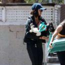 Nina Dobrev – Leaving the Gym with Her Dog in LA July 19, 2017