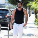Maksim Chmerkovskiy stops by Hammer & Nails, a nail salon for men, in West Hollywood, California on August 7, 2014 - 425 x 594