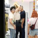 Sophie Turner and Joe Jonas – Out for some lunch in Barcelona - 454 x 623
