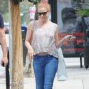 Amy Adams and her fiance Darren Le Gallo having a busy day in Studio City, California on September 8, 2014