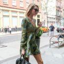 Rosie Huntington-Whiteley is seen in New York City