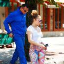 Jennifer Lopez in Leggings Out in New York City - 454 x 708