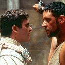 Commodus (Joaquin Phoenix) and Maximus (Russell Crowe) in Dreamworks' Gladiator - 5/2000
