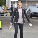 Jennifer Morrison on the set of 'Once Upon A Time' in Vancouver