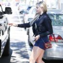 Chloe Moretz in Shorts Leaves yoga class in West Hollywood