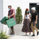 Ana De Armas – Looks cute in summer dress with Ben Affleck at Nick Fouquet hat shop in Venice - 454 x 343