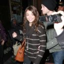 Sarah Hyland and boyfriend Matt Prokop attended the opening night of the musical Avenue Q at the Pantages Theater in Hollywood last night, March 1