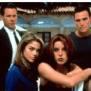 Neve Campbell, Matt Dillon, Kevin Bacon And Denise Richards In Wild Things.