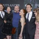 The Outlander Cast: Sam Heughan, Caitriona Balfe, Graham McTavish, Lotte Verbeek, Tobias Menzies and Nell Hudson - Starz Series 'Outlander' Premiere - Comic-Con International 2014 - 454 x 307