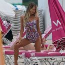 Celeste Bright in Bikini at a photoshoot on the South Beach
