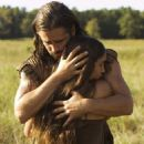 "Q'Orianka Kilcher as ""Pocahantas with Colin Farrell as Captain John Smith"