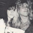 Steven Adler and Cheryl Swiderski at the release party of Great White's album Once Bitten Twice Shy at L.A.'s China Club 1989