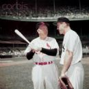 Rogers with Hank Bauer Aug. 15 1954