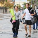 Kaley Cuoco and Karl Cook are seen out and about after a yoga class on January 23, 2017 - 454 x 362