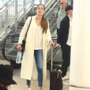 Ana Ivanovic and Bastian Schweinsteiger – Arrives at airport in Sydney - 454 x 545