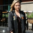 Chloe Moretz in Mini Dress out in Tribeca