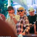 Amber Rose and Scott Disick at the VIP bar on the first night of the annual music festival in Indio, California - April 15, 2016