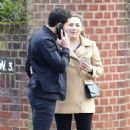 Kelly Brook with boyfriend Jeremy Parisi out in London