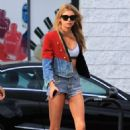 Stella Maxwell in Cut-offs out in Los Angeles