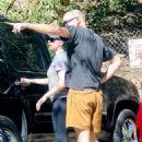 Scarlett Johansson In Leggings Out In La