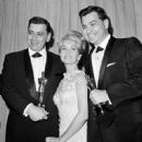 Debbie Reynolds with Richard H Sherman and Robert B Sherman - 454 x 451