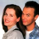 Michael Keaton and Geena Davis