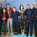 Jeffrey Wright, Jack Bright, Marcus Scribner, Raymond Ochoa, Anna Paquin, AJ Buckley, and Sam Elliott  in The World Premiere of Disney-Pixar's 'The Good Dinosaur' at El Capitan Theatre - 454 x 255