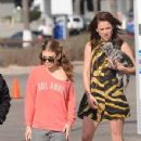 Annalyne Mccord and Jessica Stroup: on the set of 90210 in LA