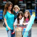 Brooke Burke With Her Daughters At A Supermarket In Malibu - 03/14/09