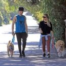Hilary Duff with her boyfriend out in Los Angeles - 454 x 381