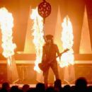 Musician Nikki Sixx of Motley Crue performs onstage during the 2014 iHeartRadio Music Festival at the MGM Grand Garden Arena on September 19, 2014 in Las Vegas, Nevada