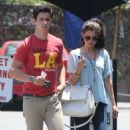 Selena Gomez and actor David Henrie out on a lunch date at Kabuki in Hollywood, California on June 8, 2013 - 454 x 525