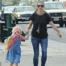 Rebecca Gayheart and her daughter Billie Dane spotted out and about in West Hollywood, California on September 8, 2014 - 454 x 553