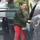 Mila Kunis in Red Pants – Out in Los Angeles