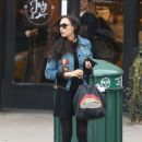 Famke Janssen – Leaving the gym in New York